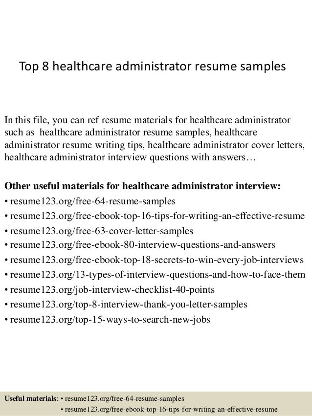top healthcare administrator resume samples career objective for administration loan Resume Career Objective For Healthcare Administration Resume