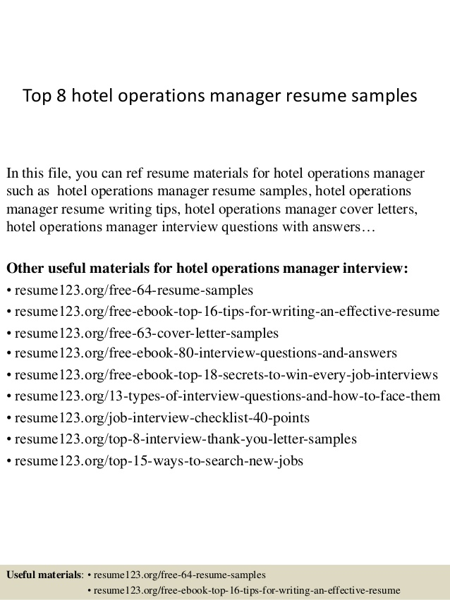 top hotel operations manager resume samples examples school clerk on iphone trade coast Resume Operations Manager Resume Examples
