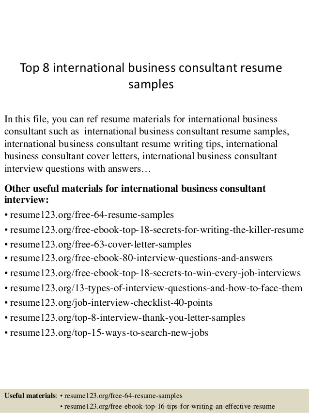 top international business consultant resume samples sample product manager keywords hdfc Resume Business Consultant Resume Sample