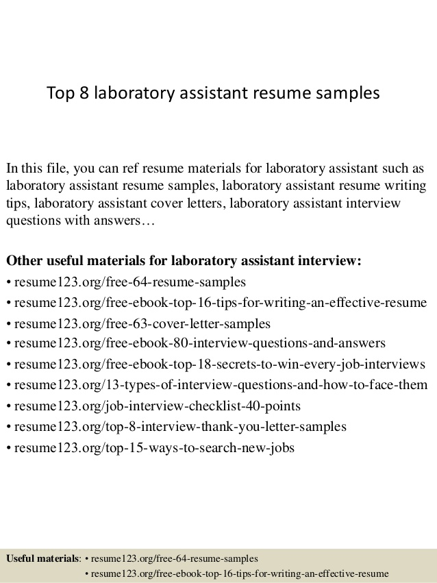 top laboratory assistant resume samples entry level lab sitecore architect job cover Resume Entry Level Lab Assistant Resume