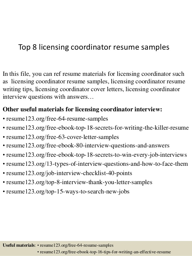 top licensing coordinator resume samples landscape construction reviews for writing group Resume Licensing Coordinator Resume