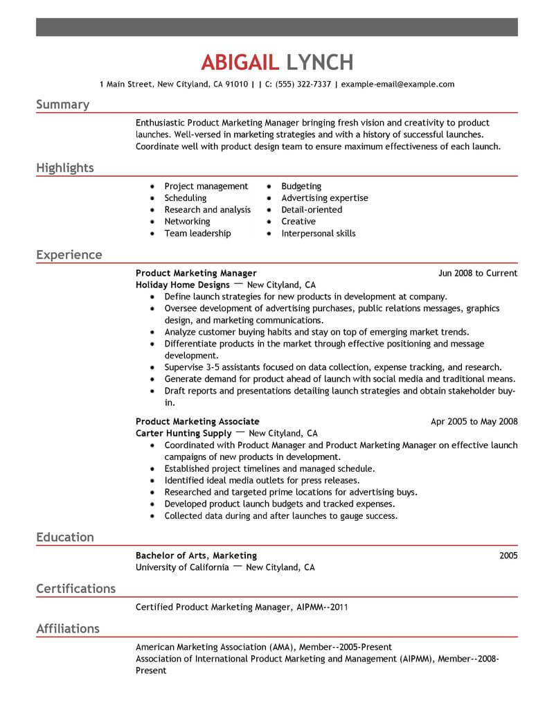 top mba resume samples examples for professionals livecareer student product marketer Resume Mba Student Resume Examples