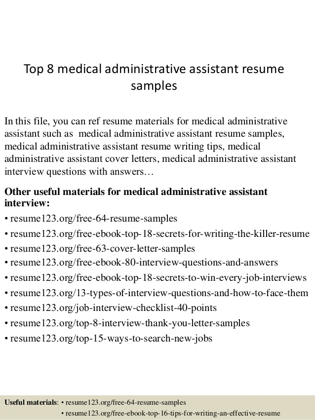 top medical administrative assistant resume samples professional layout ideas canvasser Resume Medical Administrative Assistant Resume