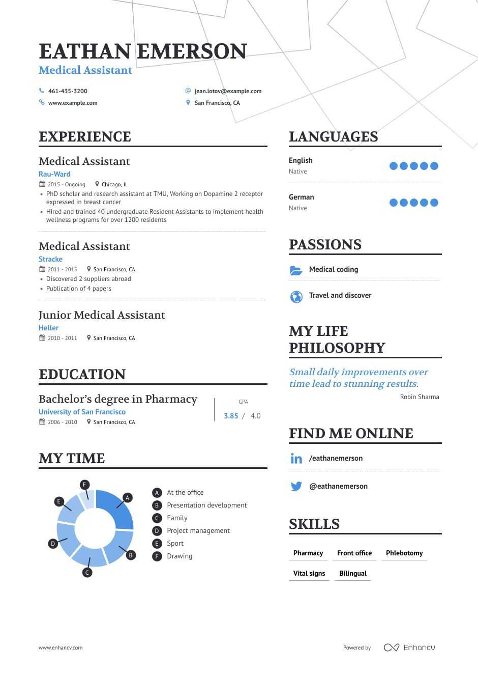 top medical assistant resume examples samples for enhancv experienced entry level claims Resume Experienced Medical Assistant Resume