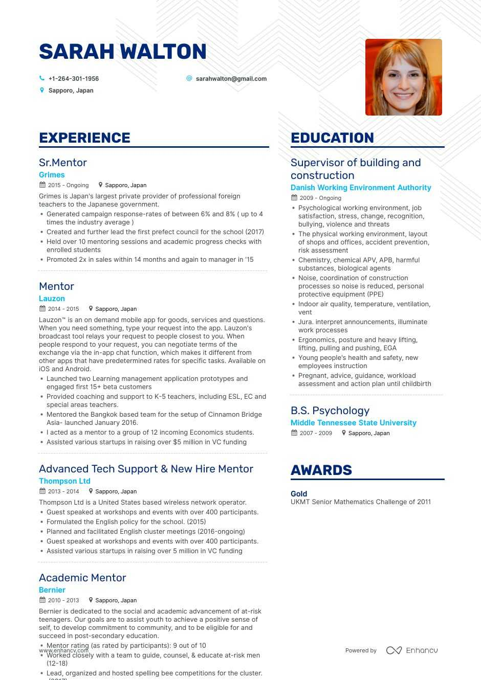top mentor resume examples samples for enhancv line about mentoring optimal san jac Resume Resume Line About Mentoring