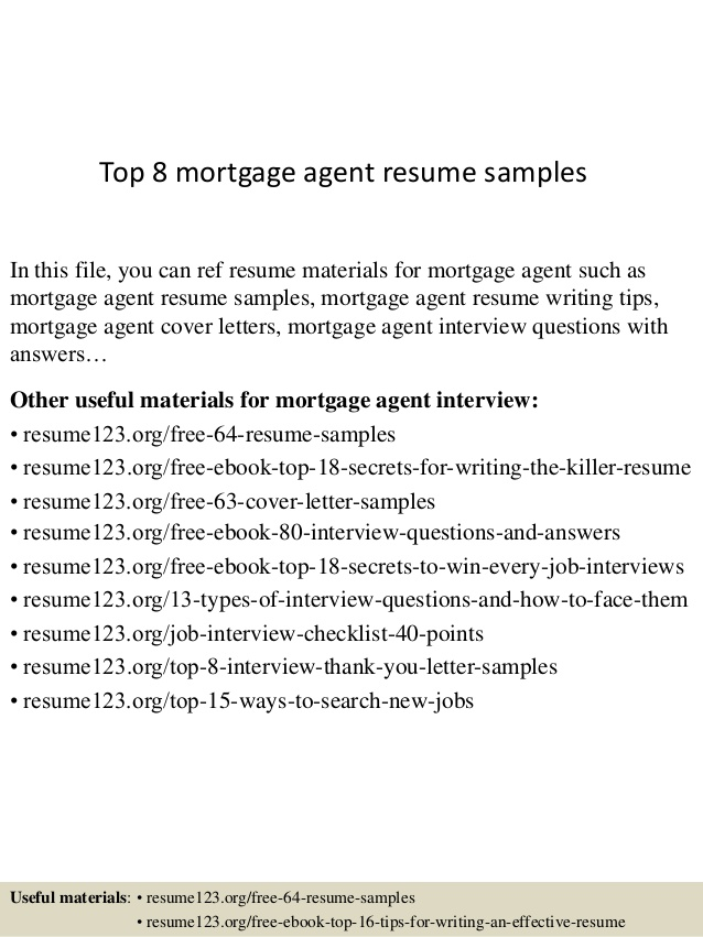 top mortgage agent resume samples professional successful examples can you breastfeeding Resume Mortgage Professional Resume