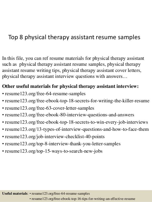 top physical therapy assistant resume samples therapist examples line about mentoring Resume Physical Therapist Assistant Resume Examples