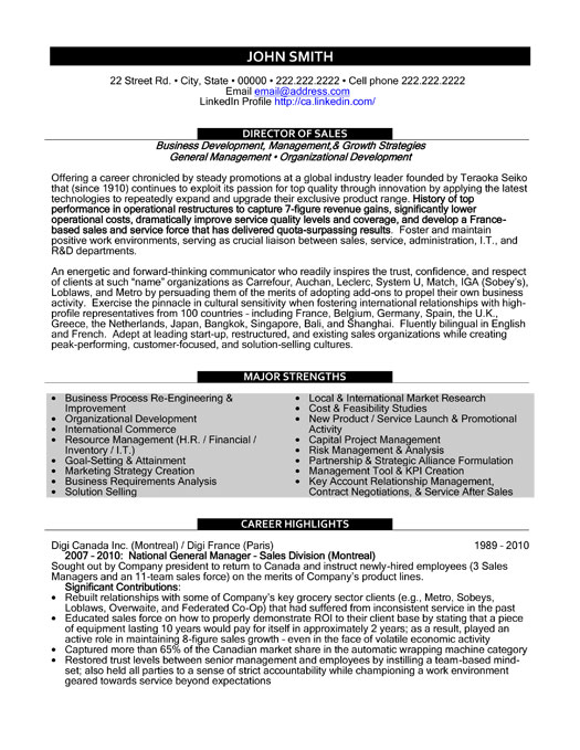 top resume templates samples professional template executive director sample keywords for Resume Sales Professional Resume Template