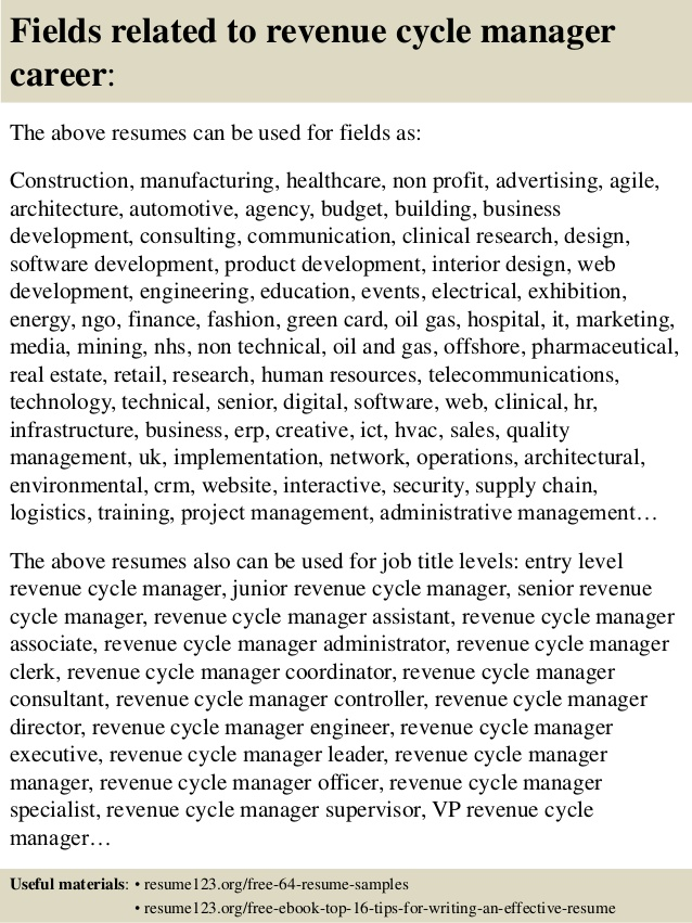 top revenue cycle manager resume samples healthcare examples veterinary assistant Resume Healthcare Revenue Cycle Resume Examples