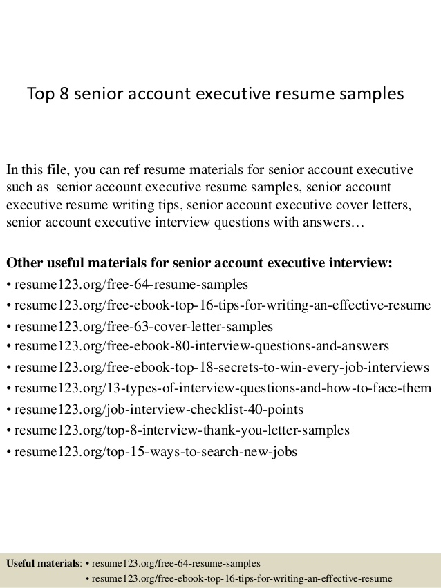top senior account executive resume samples examples ticket agent sample optometric Resume Senior Executive Resume Examples