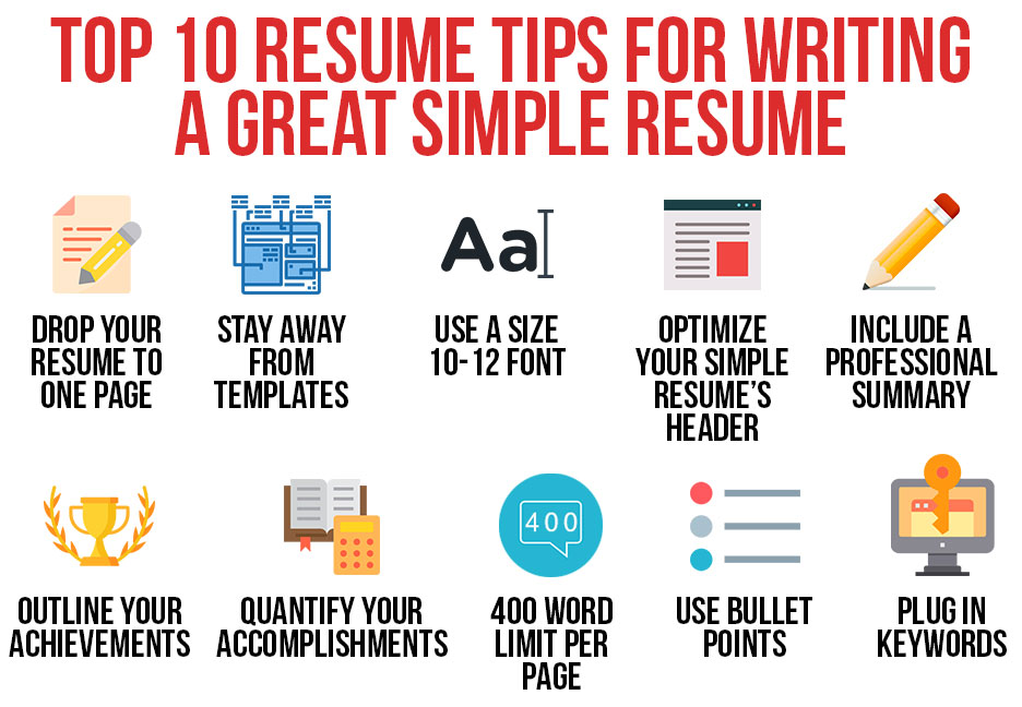 top tips for writing great resume simple retail samples office templates sap Resume Writing A Great Resume