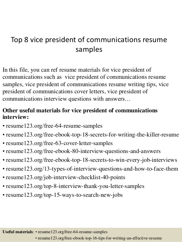 top vice president of communications resume samples vp chef template entry level Resume Vp Communications Resume