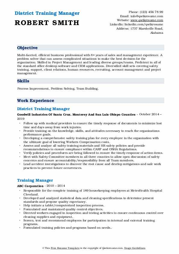 training manager resume samples qwikresume keywords pdf functional example objective for Resume Training Manager Resume Keywords
