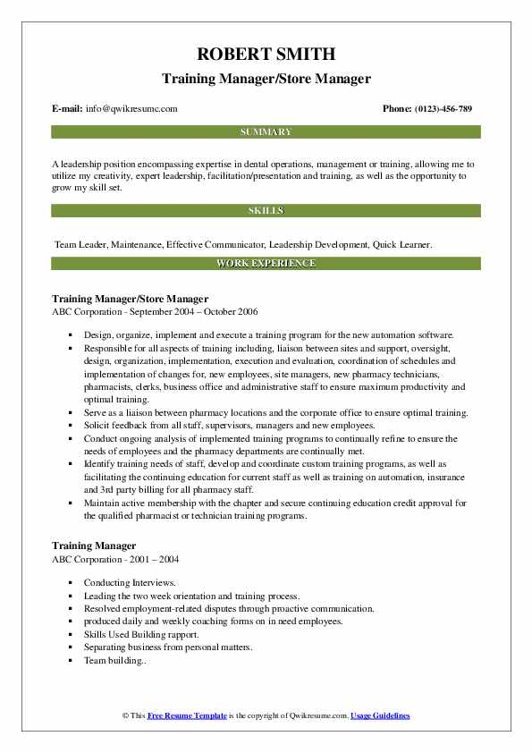 training manager resume samples qwikresume keywords pdf professional fonts for portfolio Resume Training Manager Resume Keywords