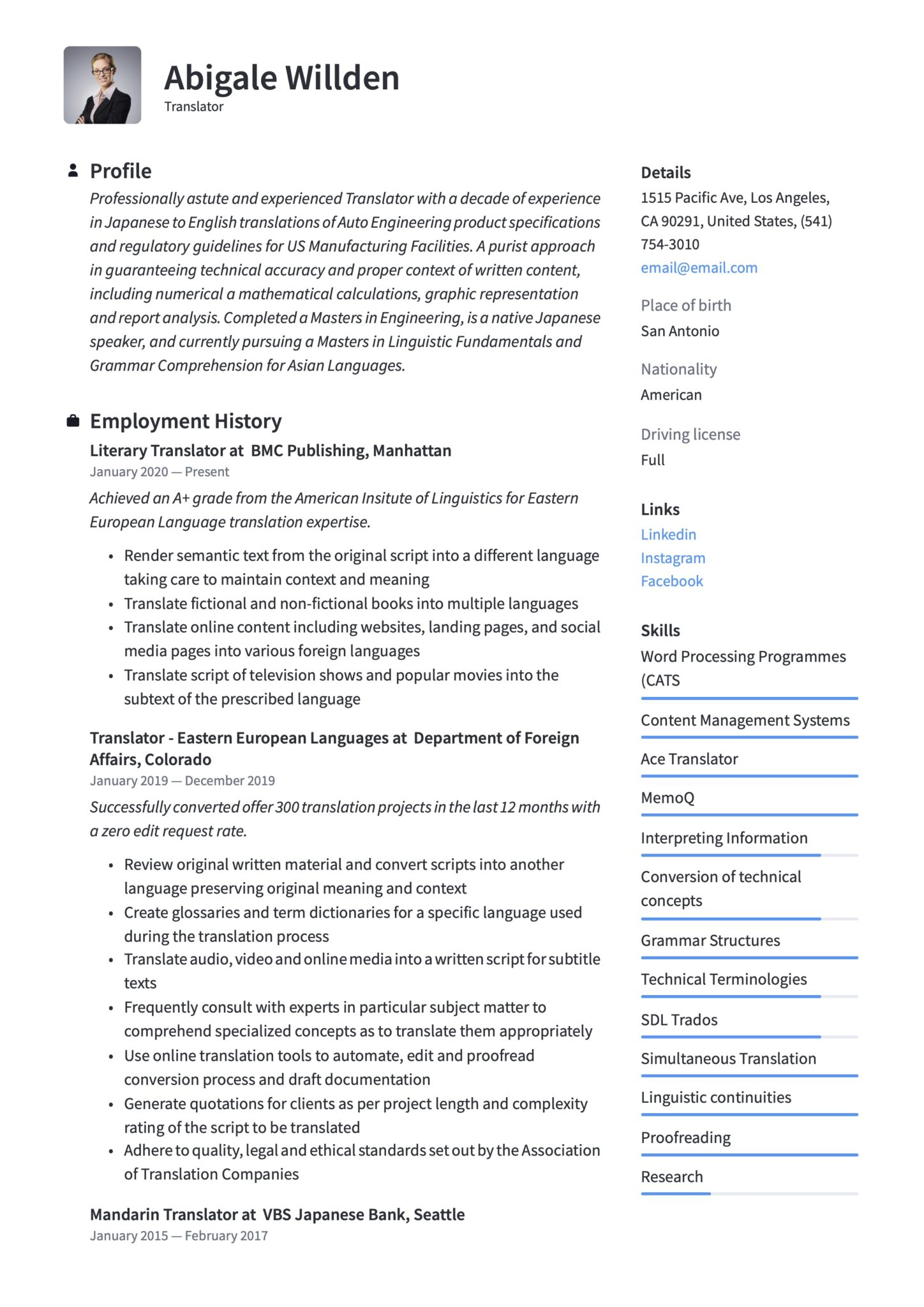 translator resume writing guide templates sample scaled broadcast examples epic today Resume Translator Resume Sample