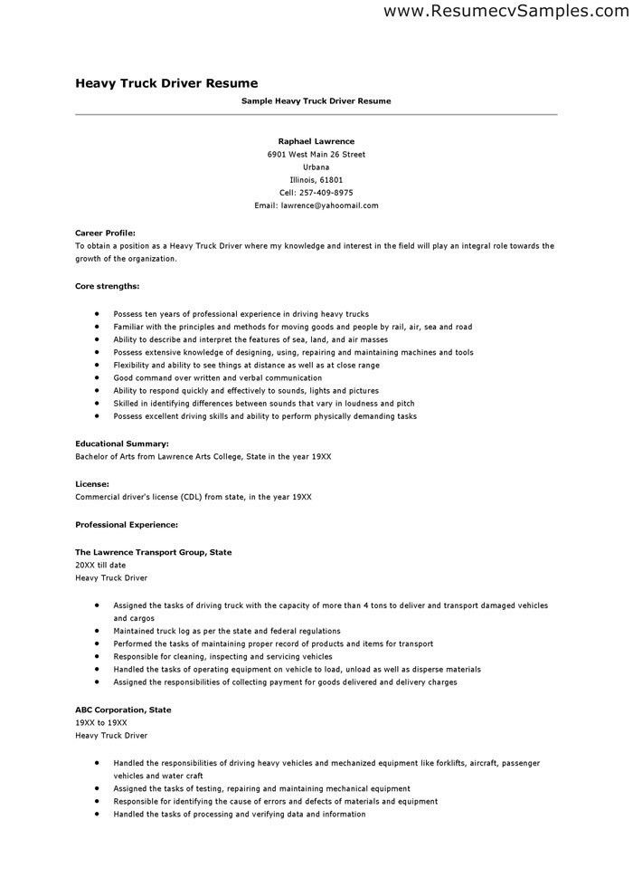 truck driver resume examples sample and tips genius unforgettable to stand out database Resume Truck Driver Resume Database