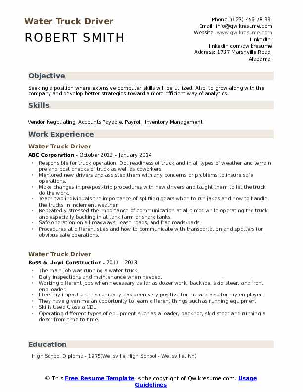 truck driver resume writing guide examples driving objective housekeeping duties and high Resume Ups Package Handler Resume