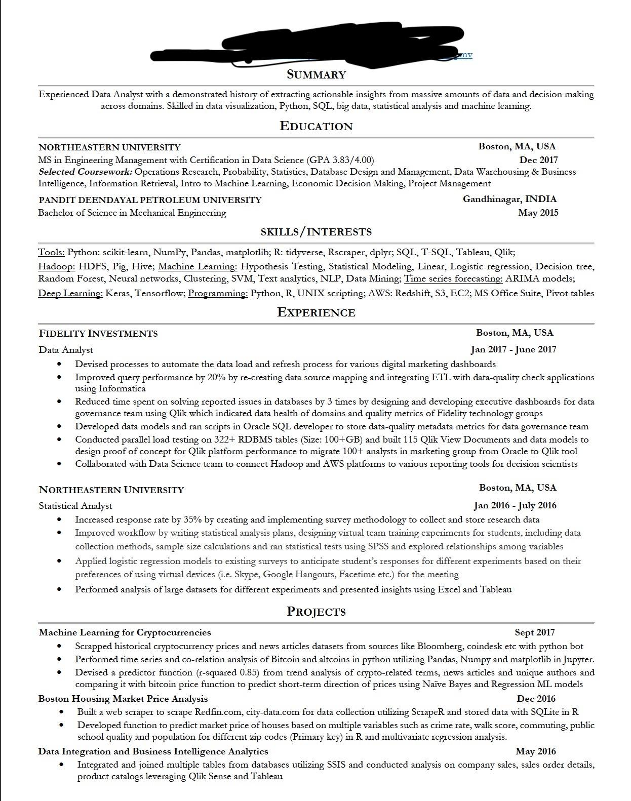 trying to get job into data analytics resume critique resumes interests reddit Resume Resume Interests Reddit