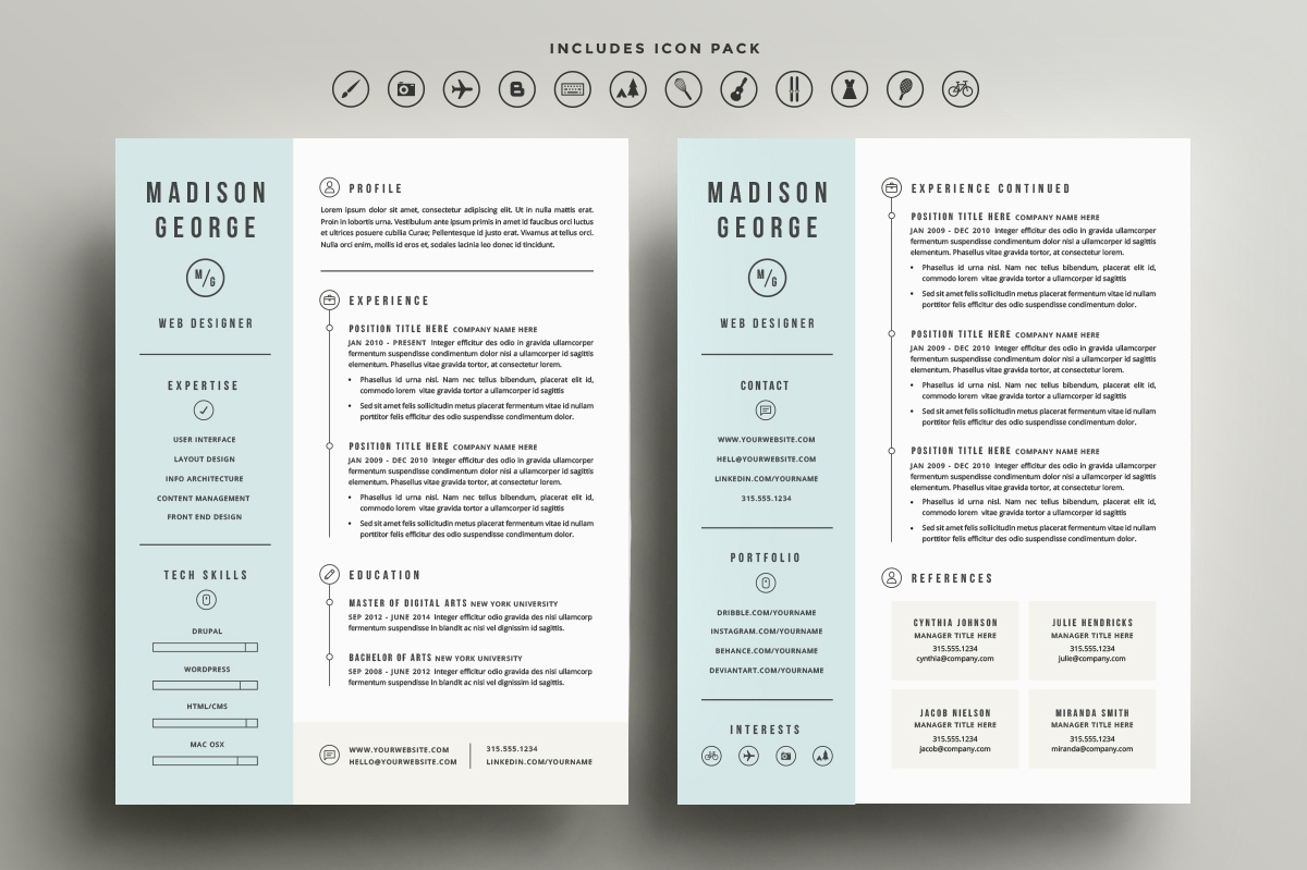 two resume template line 17qq phqqgwfsswy nerd contact number hostess sample horse Resume Two Page Resume Template
