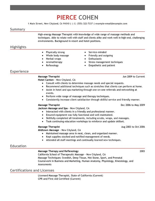unforgettable massage therapist resume examples to stand out myperfectresume sample salon Resume Sample Massage Therapist Resume