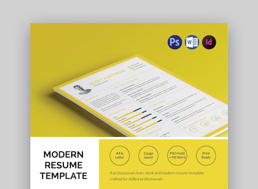 unique resume cv templates with interesting creative ideas the step modern template soa Resume The 24 Step Modern Resume