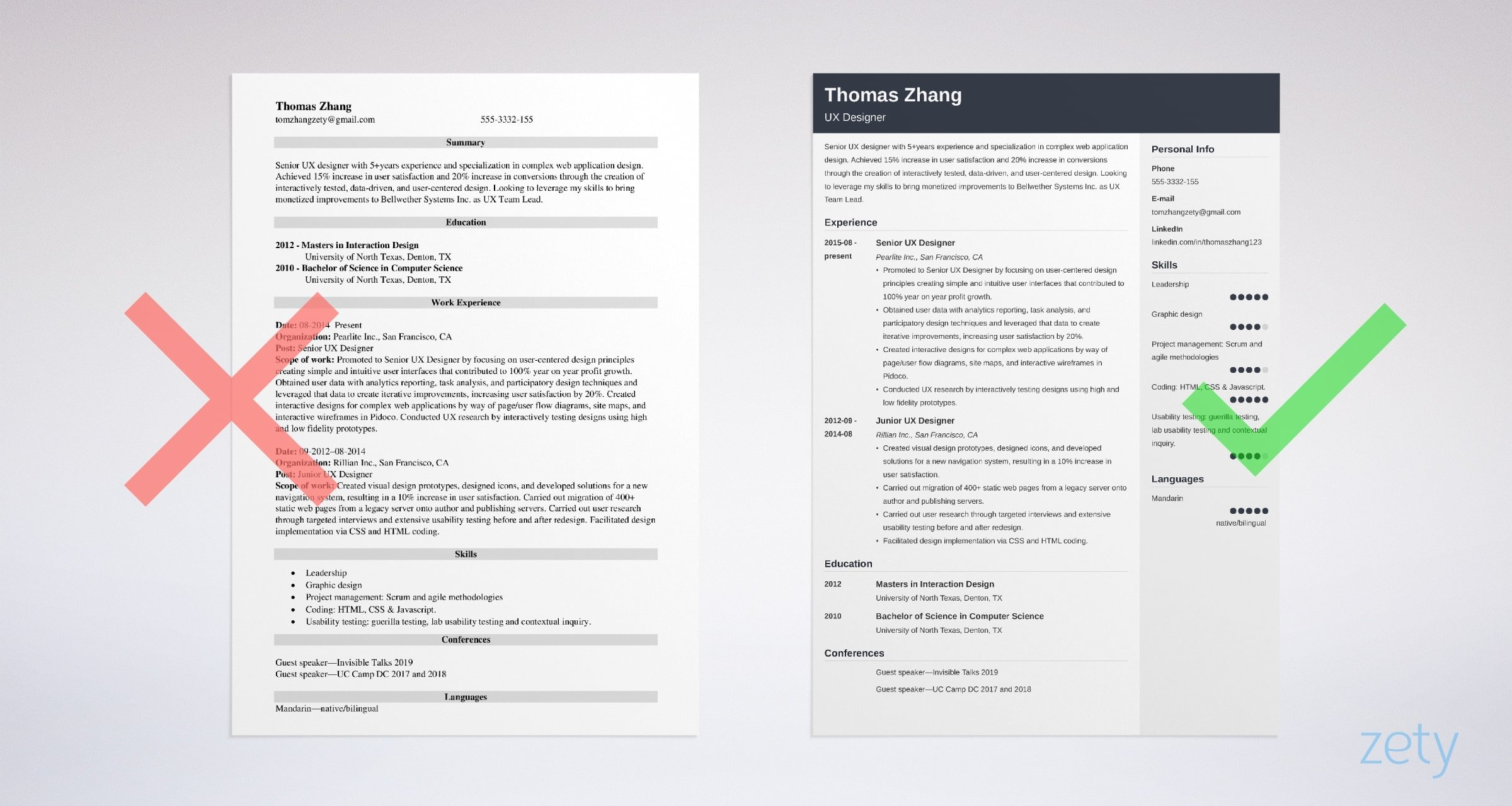 user experience ux designer resume sample interactive samples examples job for high Resume Interactive Resume Samples