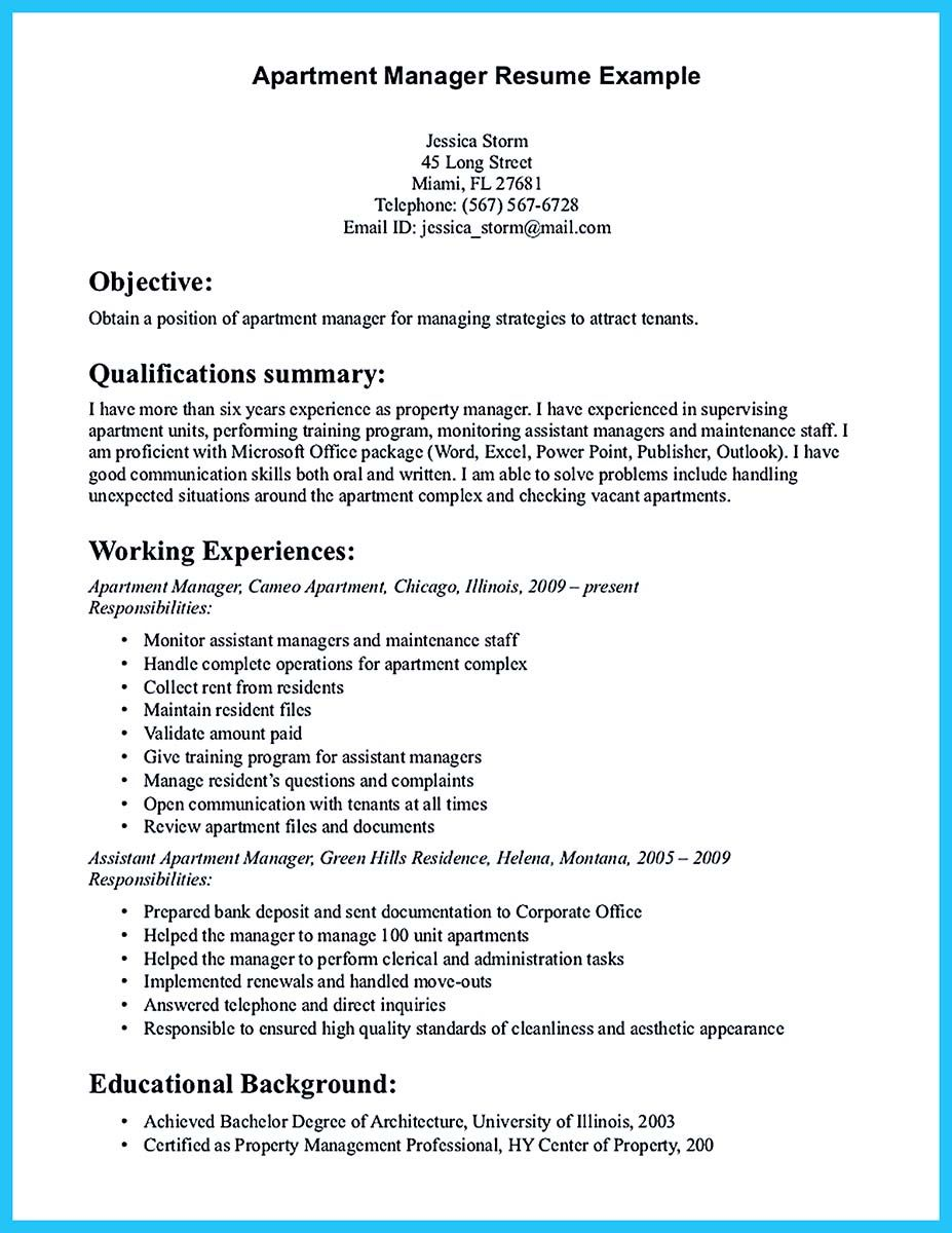 writing great assistant property manager resume examples cover letter for word document Resume Assistant Property Manager Resume
