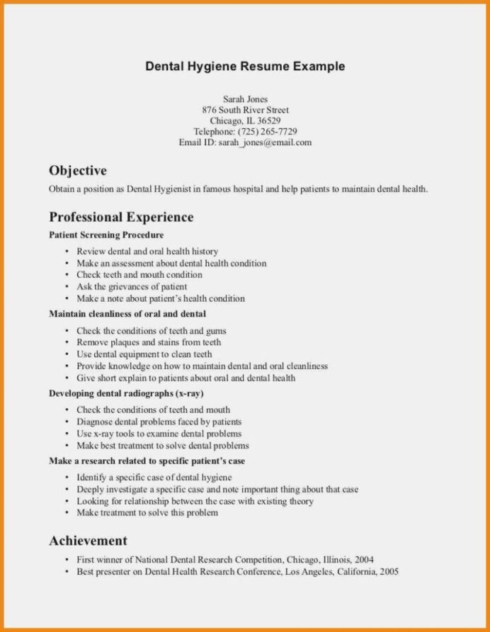 writing tips to make resume objective with examples dental hygienist hygiene templates Resume Good Objective For Resume For Dental Assistant