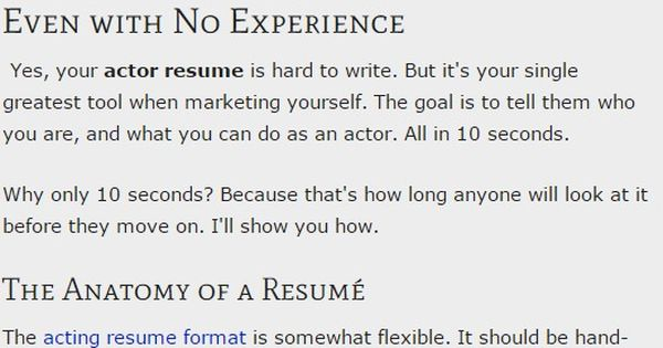 your actor resume format even with no experience audition acting lessons auditions for Resume Resume For Acting Audition Without Experience