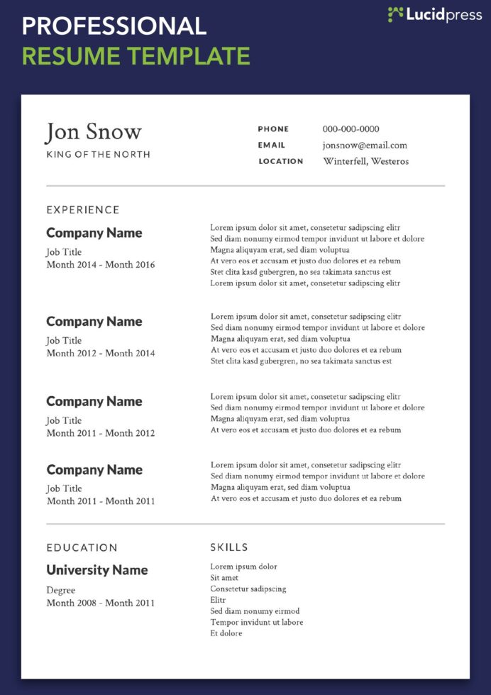 your resume formats guide for lucidpress job format professional template meat department Resume A Job Resume Format