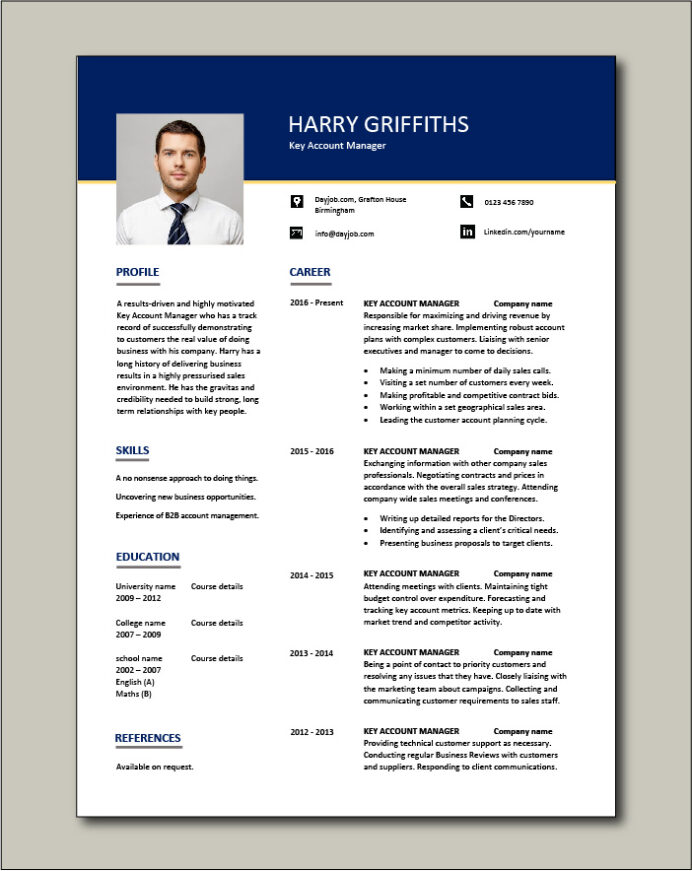 account manager resume customers job description cv example sample skills ability Resume Accounts Manager Resume Format