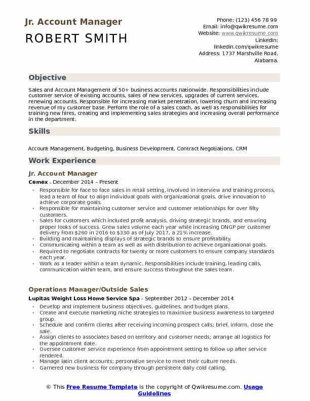 account manager resume samples qwikresume accounts format pdf sample for summer job Resume Accounts Manager Resume Format