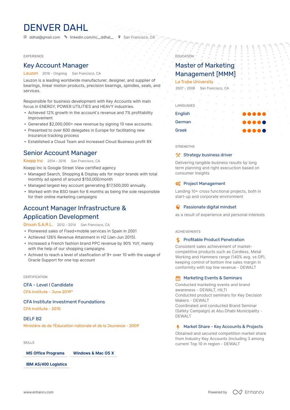 account manager resume ultimate writing guide with samples candidate on generated Resume Cfa Candidate On Resume