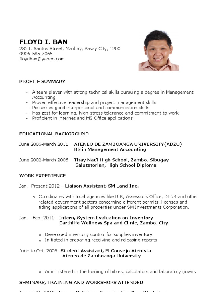 acting resume template google docs document sample for fresh graduate without work Resume Resume Template For Fresh Graduate Without Experience