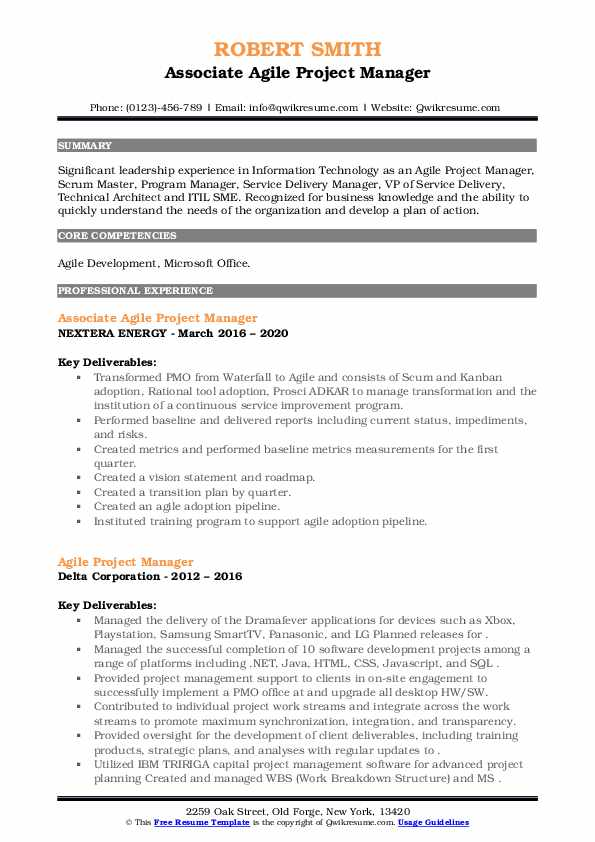 agile project manager resume samples qwikresume program pdf genius builder sag free Resume Agile Program Manager Resume