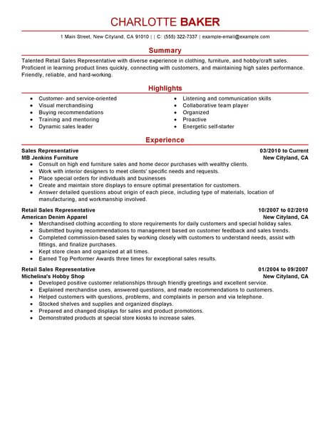 amazing customer service resume examples livecareer professional skills for rep retail Resume Professional Skills For Customer Service Resume