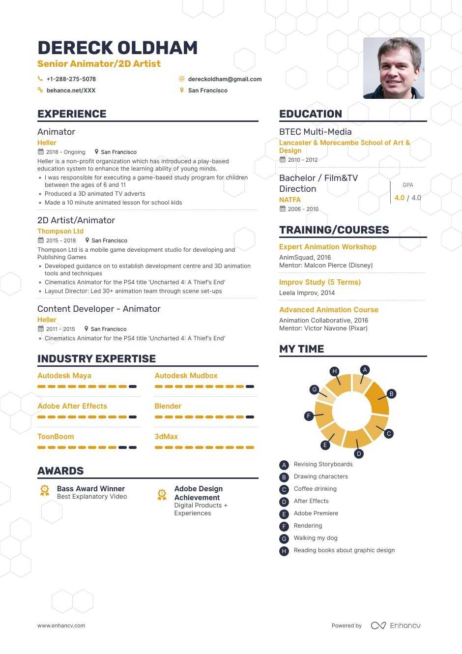animator resume examples and skills you need to get hired for fresher creative profile Resume Resume For Animator Fresher