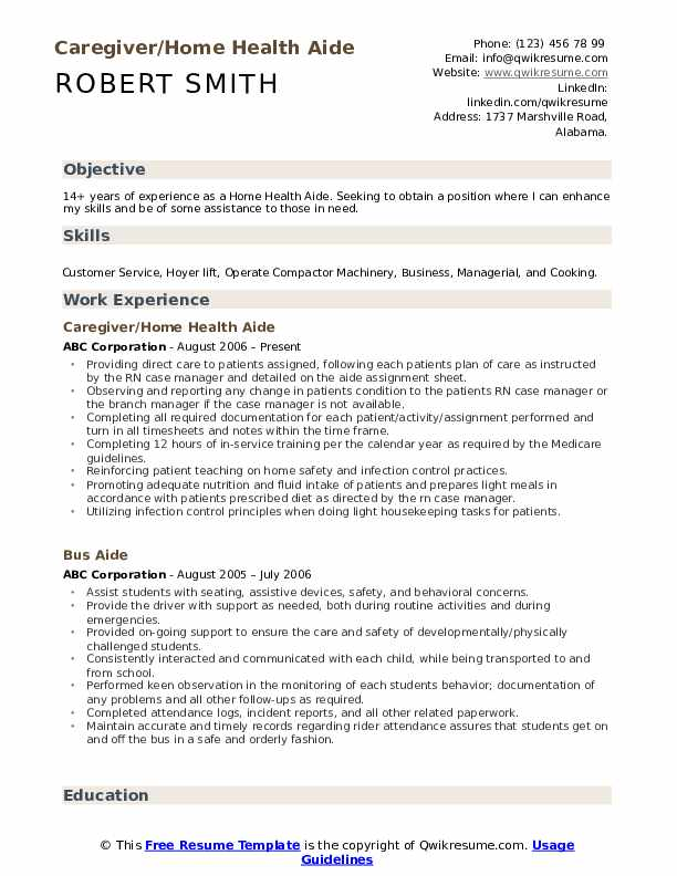 appen resume example certified home health aide sample inside template internship Resume Sample Resume Objective For Tourism Students