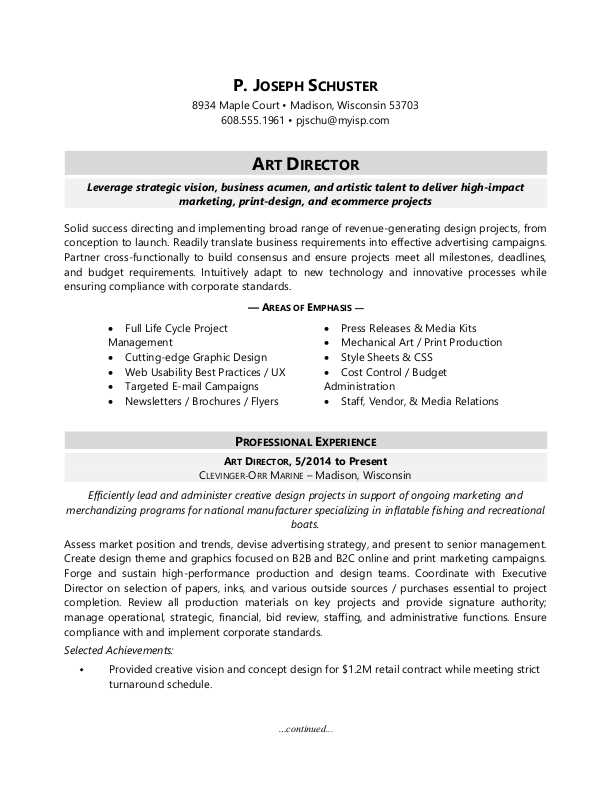 art director resume sample monster print production examples strength skills for mission Resume Print Production Resume Examples