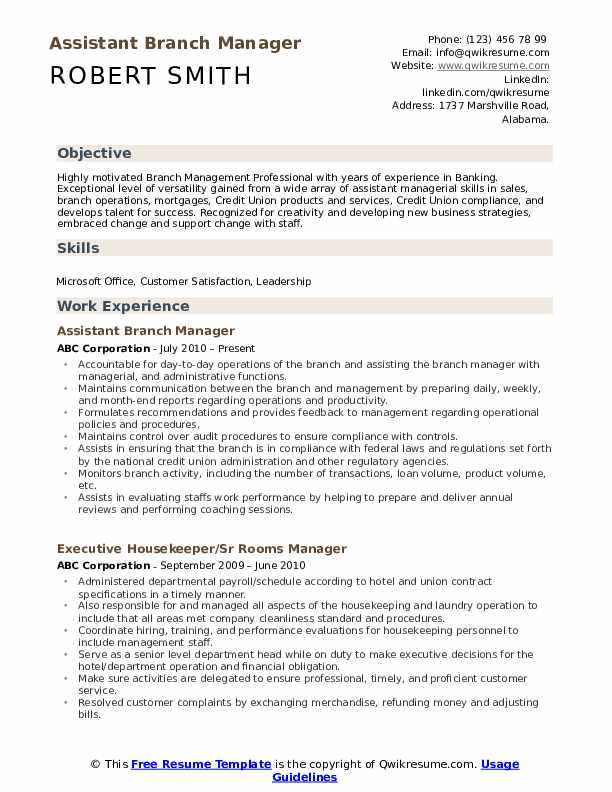 assistant manager resume samples qwikresume bank sample pdf peace corps example cocktail Resume Bank Manager Resume Sample