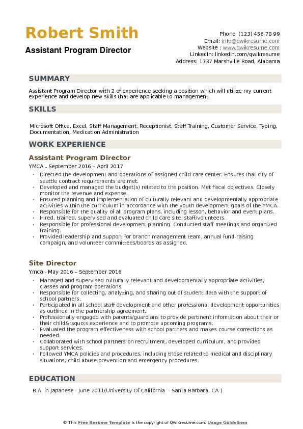 assistant program director resume samples qwikresume examples for position pdf mind map Resume Mind Map Resume Template