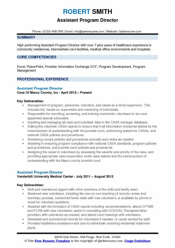 assistant program director resume samples qwikresume pdf principal examples made easy Resume Program Director Resume