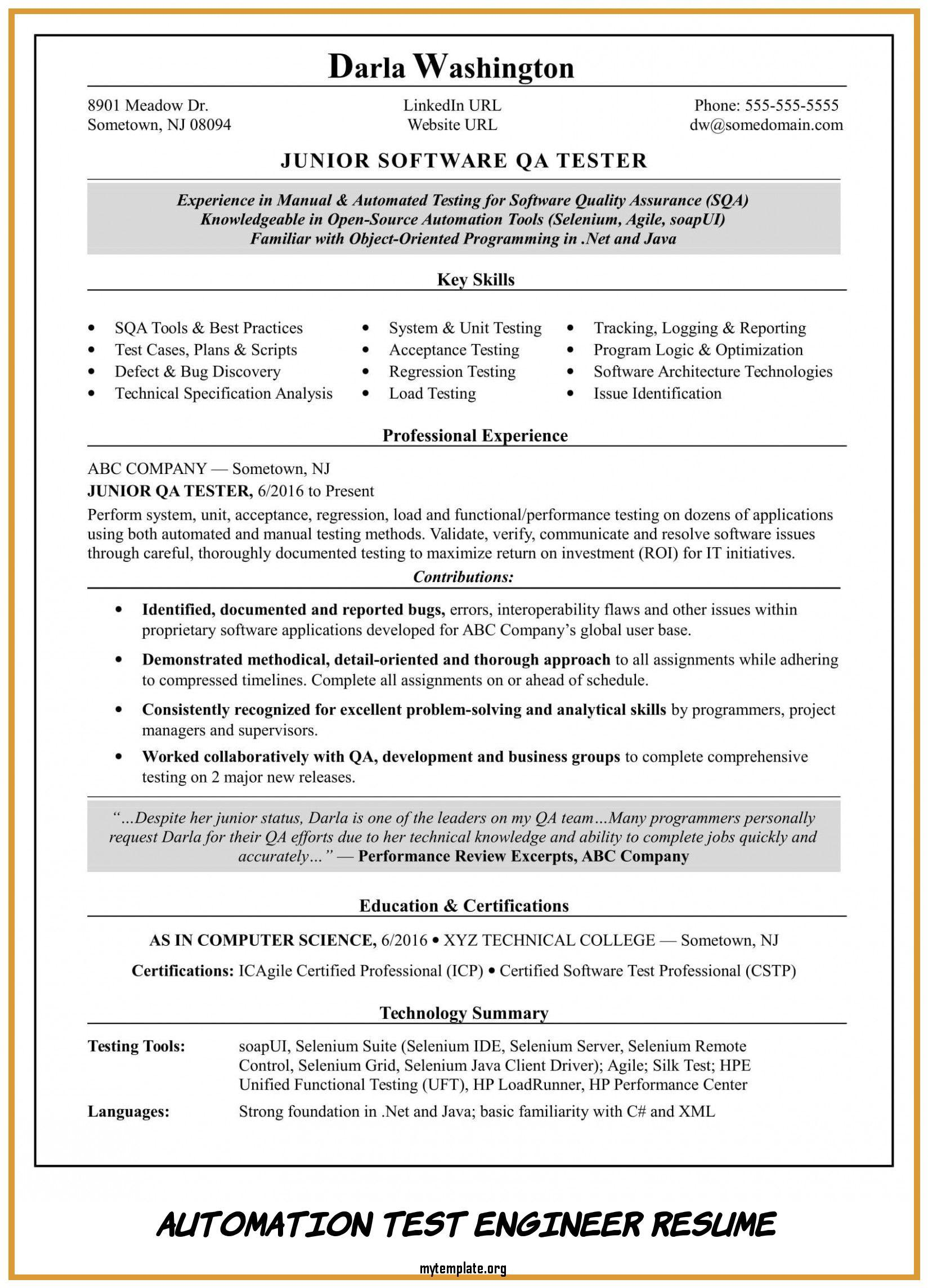 automation test engineer resume free templates headline for of take look at pin music Resume Resume Headline For Test Engineer