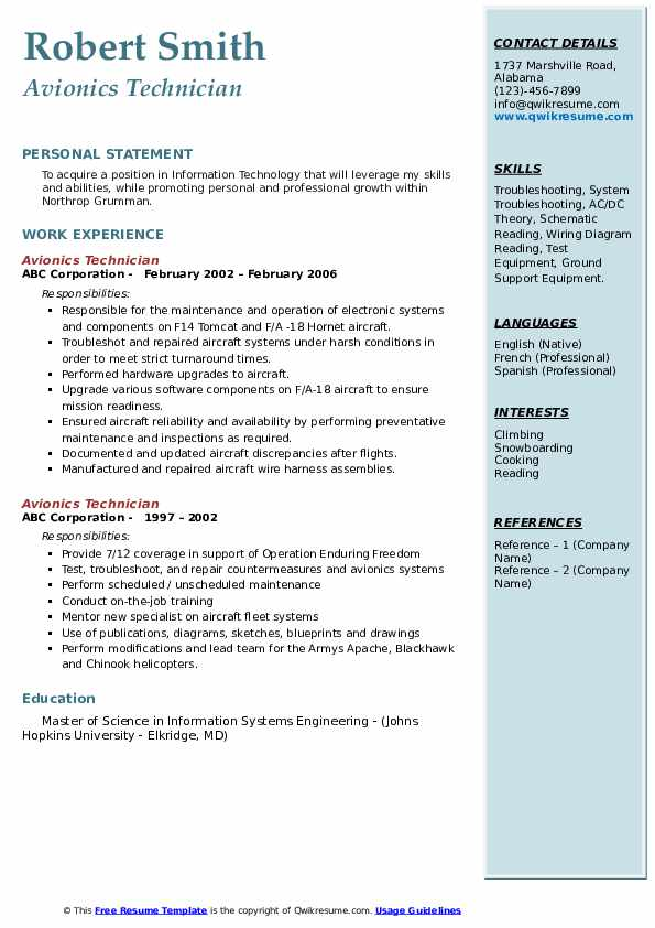 avionics technician resume samples qwikresume objective pdf skills for tourism icu clean Resume Avionics Resume Objective