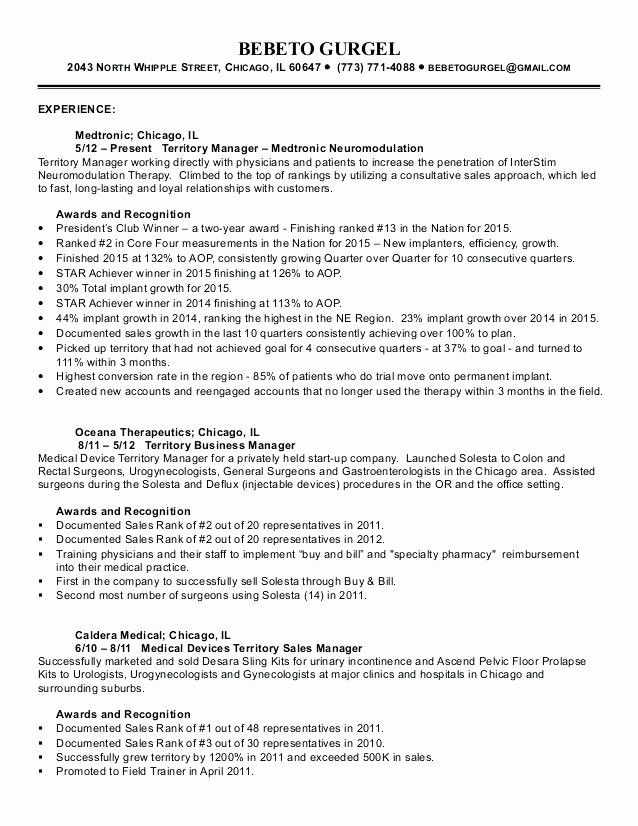 awesome territory manager resume pharmaceutical medical template device rep examples Resume Medical Sales Rep Resume Examples