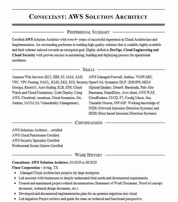 aws solution architect resume example onmax solutions bladensburg front desk receptionist Resume Aws Solution Architect Resume