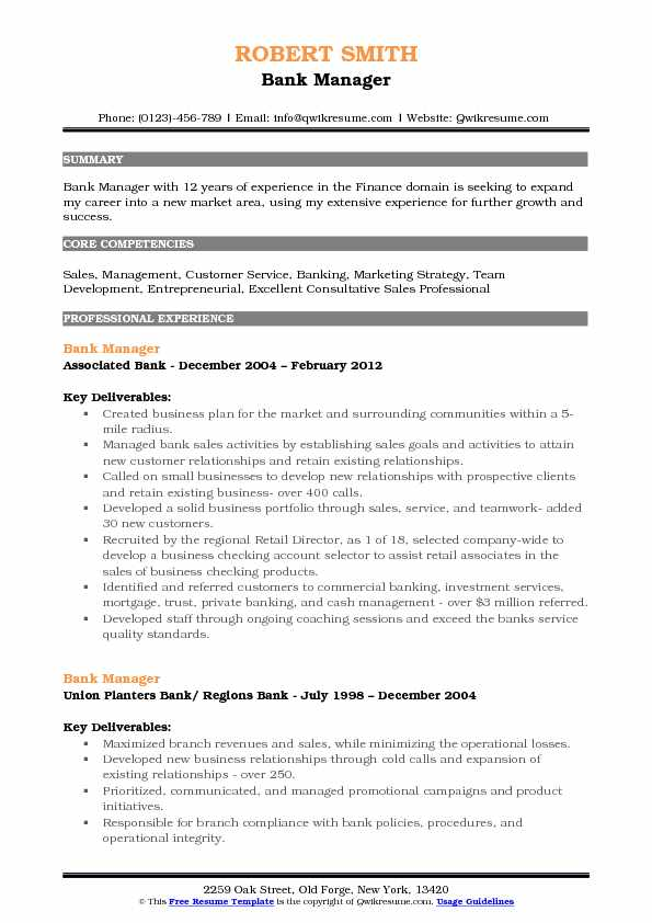 bank manager resume samples qwikresume sample pdf examples for office position objective Resume Bank Manager Resume Sample