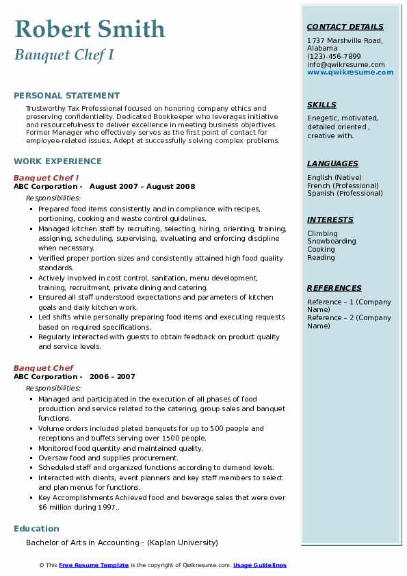 banquet chef resume samples qwikresume sample pdf for back office job call center skills Resume Banquet Chef Resume Sample