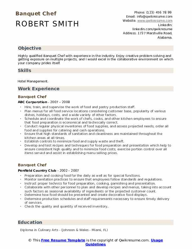banquet chef resume samples qwikresume sample pdf lawn care honors on strong titles Resume Banquet Chef Resume Sample