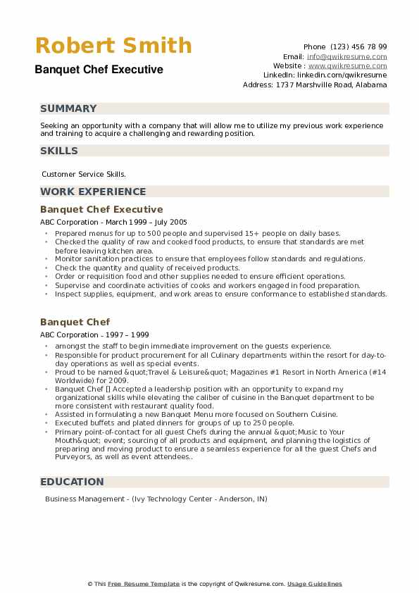 banquet chef resume samples qwikresume sample pdf strong titles first job template for Resume Banquet Chef Resume Sample